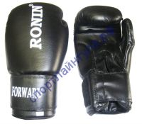 Боксерские перчатки RONIN FORWARD (PU) YB-735C черные