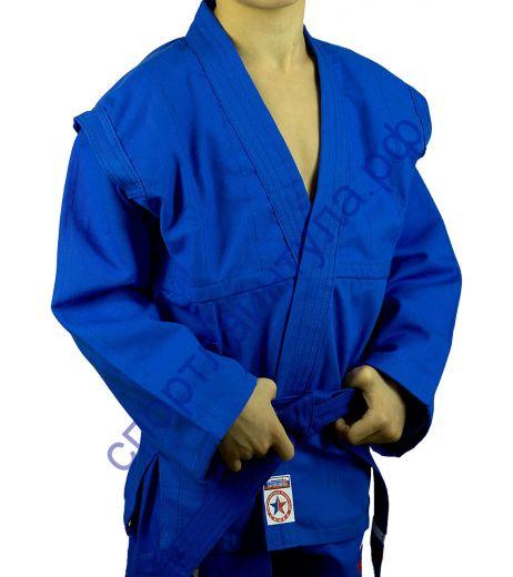 Куртка самбо (облегченная) Крепыш синяя