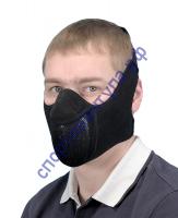 Тепловая маска Полумаска с двумя креплениями арт. ТМ 2.1. (черный) САЙВЕР|SAYVER